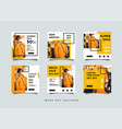 social media post design template vector image vector image