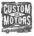 T-shirt typography design retro car printing