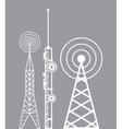 towers telecommunication television radio vector image