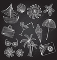 vacation icons set vector image vector image