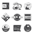 Vintage cleaning service logos emblems vector image vector image