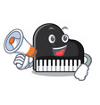 with megaphone piano character cartoon style vector image
