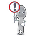 with sign spoon character cartoon style vector image vector image