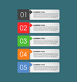 modern business style options banner flat for vector image