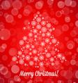 Christmas tree made of random snowflakes and bokeh vector image