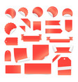 paper stickers and labels isolated on white vector image