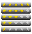 5 star star rating element graphics vector image