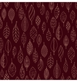 Autumn dark red seamless stylized leaf pattern in vector image