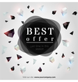 Best offer banner vector image