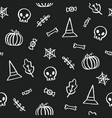 black and white halloween background vector image vector image