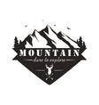black and white mountain explorer adventure logo vector image vector image