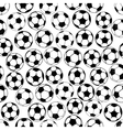 Black and white soccer balls seamless pattern vector image vector image
