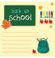 blank with board back to school vector image vector image