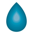 Blue drop water isolated on white vector image vector image