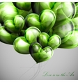 bunch of green balloon hearts vector image vector image
