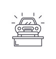 car showroom line icon concept car showroom vector image