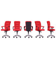 cartoon office chair computer chair in different vector image