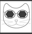 cat sunglasses accessory mustache vector image