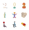 Circus performance icons set cartoon style vector image vector image