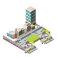 city subway urban landscape infrastructure vector image