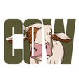 Cow sign vector image vector image