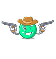 cowboy circle character cartoon style vector image