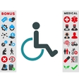 Disabled Person Icon vector image