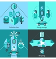 Ecology Flat Set vector image vector image