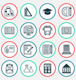 education icons set collection of diploma vector image vector image