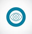 eye icon bold blue circle border vector image vector image