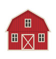 farm building icon flat style isolated on white vector image vector image