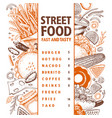 fast food hand drawn street vector image vector image