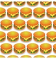 Fast Food Pattern Fresh Hamburger Background vector image