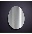 Flat metallic logo egg vector image vector image