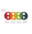 four harmonious circle infographics vector image