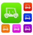 golf club vehicle set color collection vector image vector image