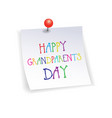 happy grandparents day greeting card sticker vector image