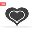 heart icon perfect love symbol valentine vector image vector image