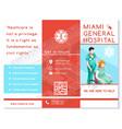 hospital trifold brochure medical clinic eps10 vector image