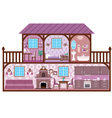 House in a cut vector | Price: 1 Credit (USD $1)