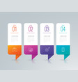 infographics design with 4 options vector image vector image