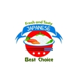 Japanese food Fresh and tasty Restaurant icon vector image vector image