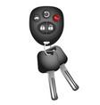 key and key ring to car vector image vector image