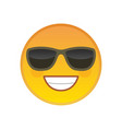 laughing emoticon with sunglasses element vector image