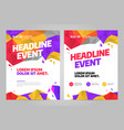 layout design template for event vector image