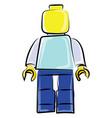 lego man on white background vector image