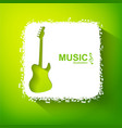 light musical background vector image