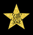 little star hand drawn creative calligraphy and vector image