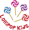 Lollipop Kids vector image vector image