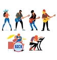 Musicians rock group isolated on white background vector image vector image